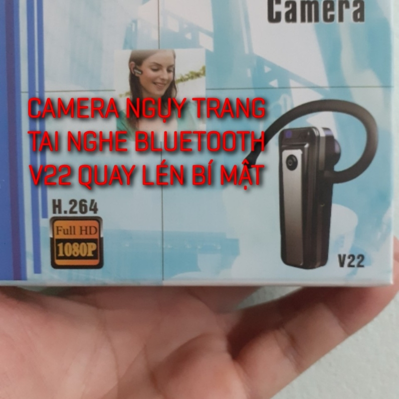 Camera ngụy trang taii nghe bluetooth V22