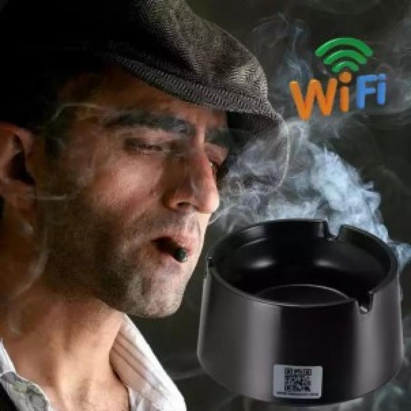 Camera Wifi Ngụy Trang Gạt Tàn Thuốc Lá