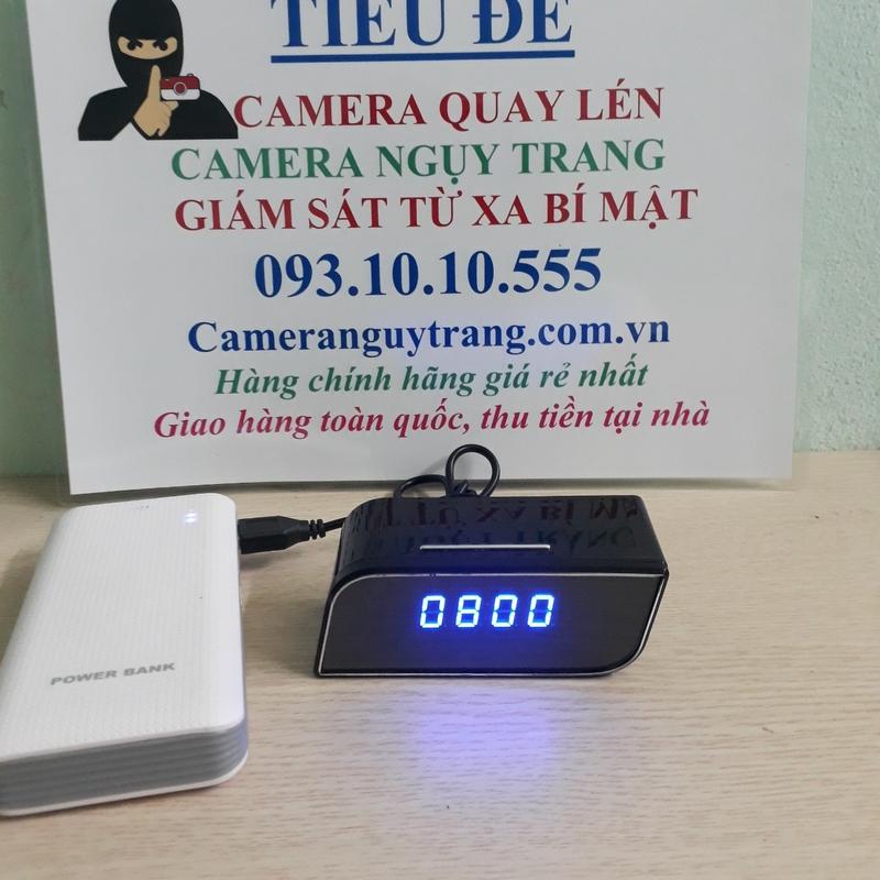 Đồng hồ camera để bàn T11 kết nối wifi quay lén bí mật từ xa