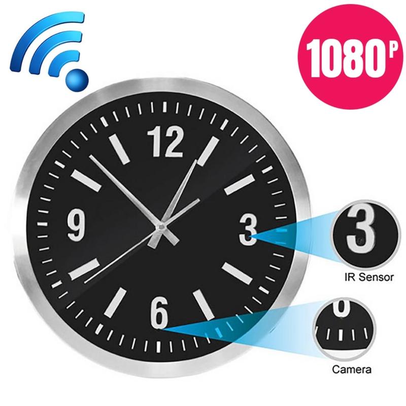 Đồng hồ treo tường camera wifi T17 quay đêm