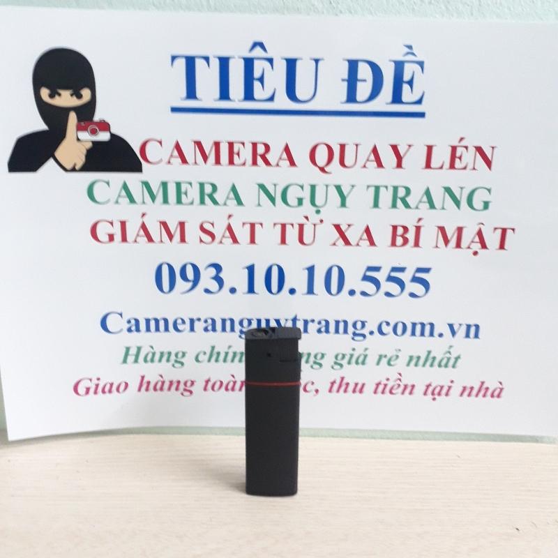 Camera quay lén ngụy trang hình bật lửa K6 hỗ trợ quay đêm